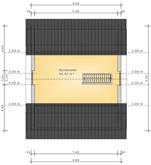 Grundriss Spitzboden (klick vergrößern)