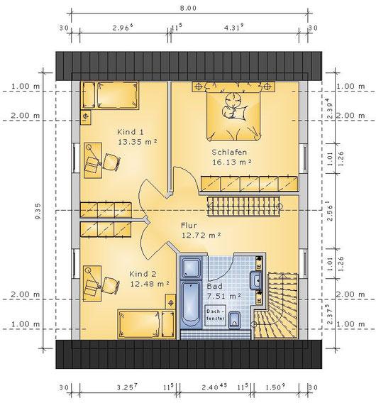 Grundriss DG Variante (klick vergrößern)