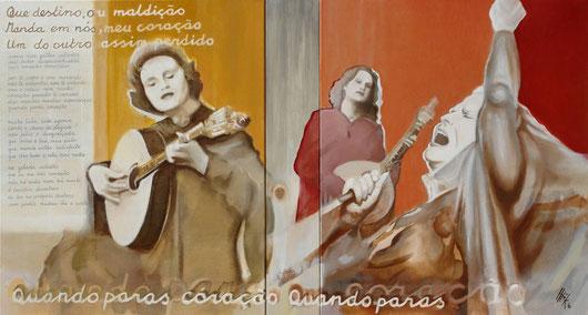 Maldição - oil on canvas - 101 x 50 cm