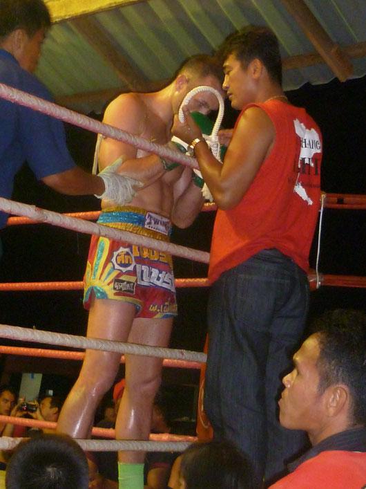 Muay Thai Kampf auf Ko Phagnan