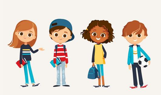 enfants partant école ou jouer pour troubles de l'enfant par Christelle Barrand