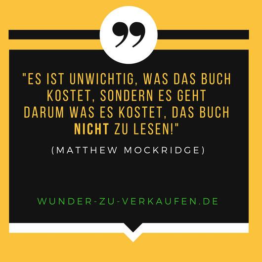 Matthew Mockridge Zitat zu Buch
