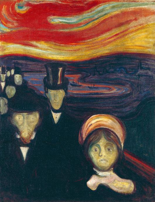 "E. Munch, ""Ansia"" (1894)"