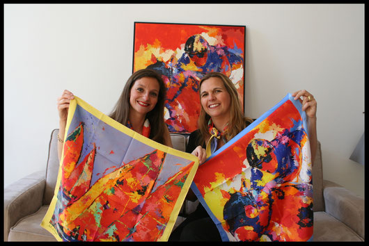 fanfaron scarf, scarves, silk, made in france, Julie d'Aragon, painter, Bordeaux, Victoire by fanfaron, Voiles by fanfaron