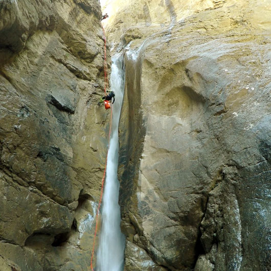 canyoning dans les alpes