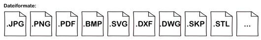 3D-Druck Dienstleistungen 2D in 3D-Druck Dateiformate