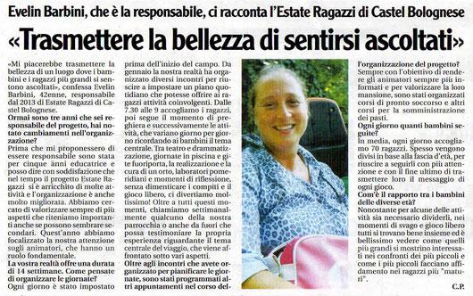 """da """"Il Nuovo Diario Messaggero"""" del 9 luglio 2016"""