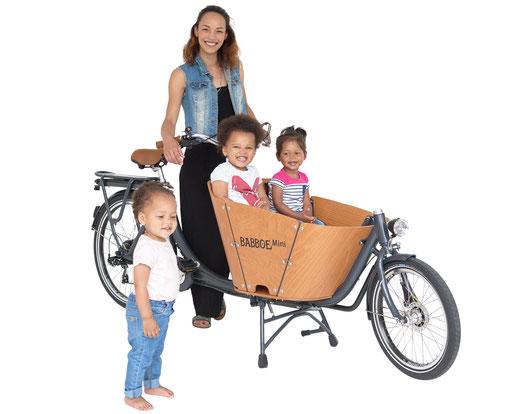 Babboe Mini-E Lasten e-Bike, Lastenfahrrad mit Elektromotor, e-Cargobike 2020