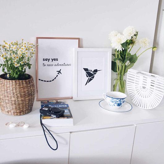 Say yes to new adventures | Reisen | Typografie Poster