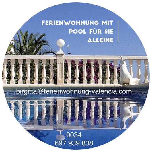 www.ferienwohnung-valencia.com, Salzwasser-Pool zur alleinigen Nutzung