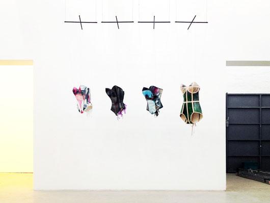 Carolin Wendel corsets 2013 installation view at gallery B2