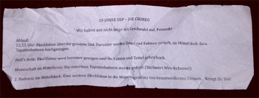 10 Jahre Ultrà Sankt Pauli – Die Choreo-Anweisung