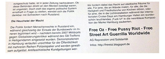 Link: Free Oz And Street Art Guerrilla Worldwide Pussy Riots are everywhere