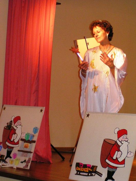 La fée Célisine, un accueil du Père Noël tout en douceur et poésie...