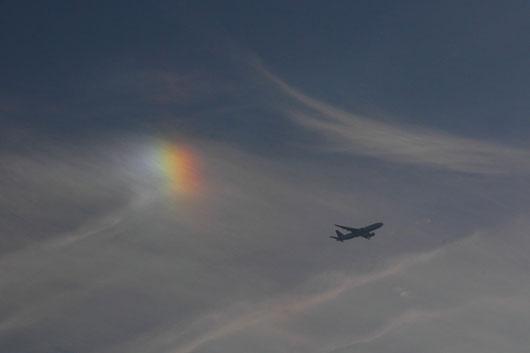 彩雲 昔から吉兆とされるとか。 何かイイコトあるかな?