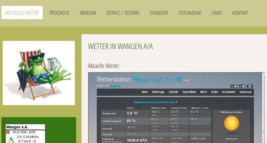 Wetterstation Wangen a/A