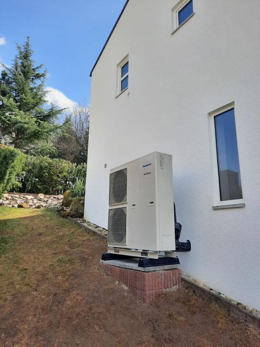 Außengerät Panasonic Luft-Wärmepumpe © iKratos