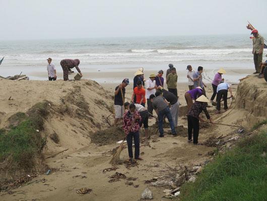 Xã Quảng Cư Sầm Sơn ra quân dọn vệ sinh môi trường
