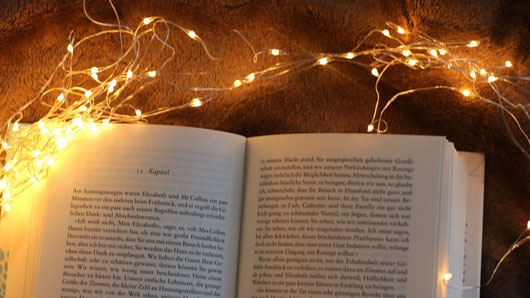 Leeslampje boek