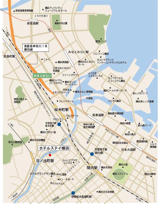 桜木町 日ノ出町 関内周辺 横浜 観光マップ