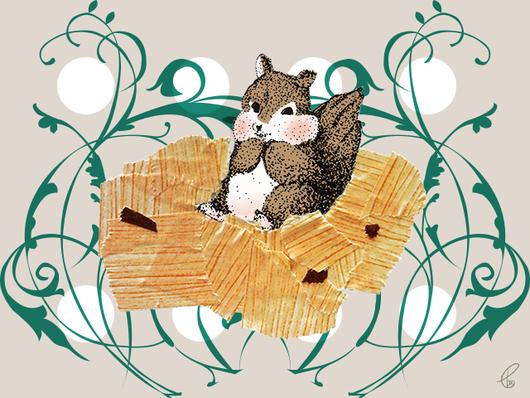 りす/ドローイングペン マスキングテープ PhotoshopCS6 IllustratorCS6 2013,7.25