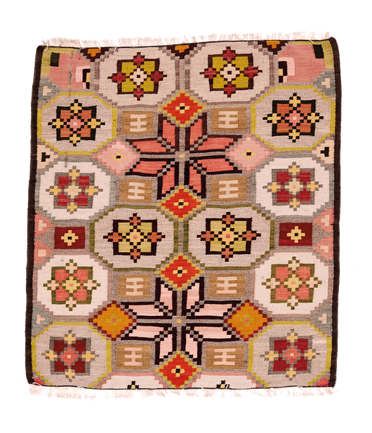 Teppich. Zürich. Vintage Kilim, probably from Ukraine. Handgewebter Teppich, Kelim, wahrscheinlich aus Ukraine.