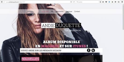 Klick das Bild und besuche ihre offizielle Homepage www.AndieDuquette.com