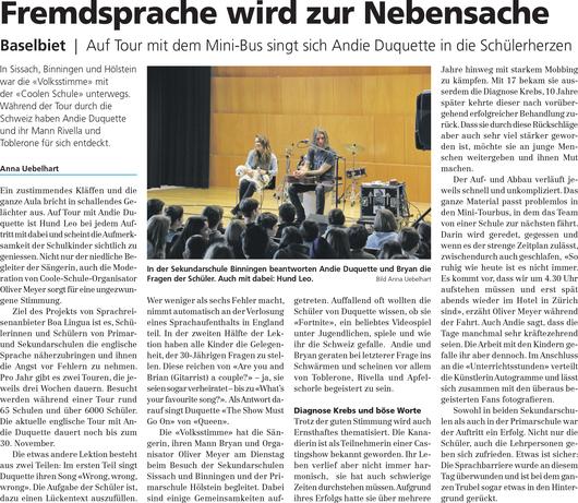 Anklicken um zu lesen: Bericht Volksstimme (20.11.2018).  Mehr Artikel unter Presse.