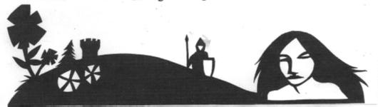 Schattenbilder illustrien die Sage von dem Rodensteiner.