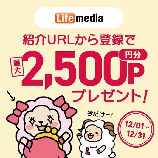 ポイ活サイト比較一覧1位ライフメディアで月収10万円稼げる友達紹介制度