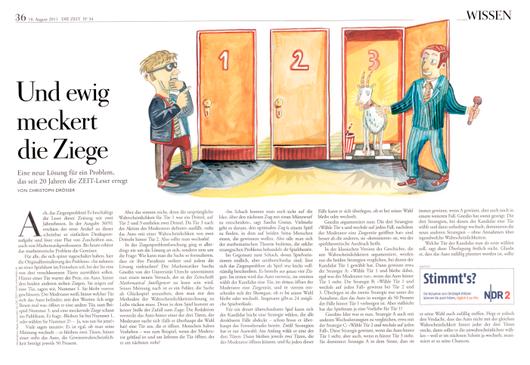 Diese Illustration fertigte der Berliner Zeichner Niels Schröder für die Wochenzeitung DIE ZEIT an. In dem Artikel geht es um das Phänomen der Dyskalkulie, der Rechenschwäche. © niels-schröder