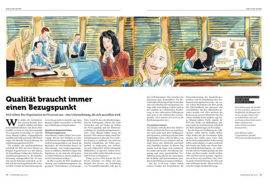Marketing,Unternehmen,Manager,Büro,office,open-office. Illustrationen für die Berliner gasag von Niels Schröder.