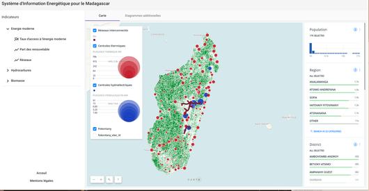 Screenshot of digital map for Madagascar