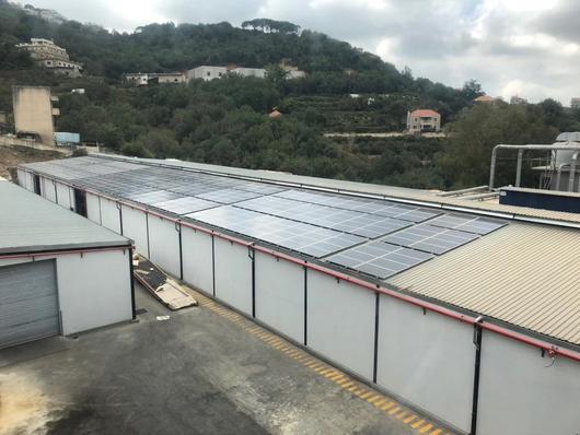 Lebanon: Solar panels on a public building