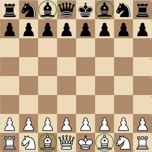練馬チェス教室  ビショップ 初期配置