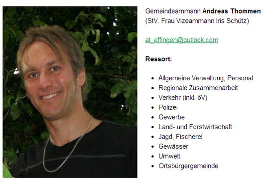 Grüne mit Durchblick: Gemeindeamman und ECOPOP-Sekretär Andreas Thommen
