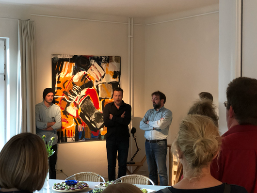 Lorenz Oberdörster, Fabian Winkler und Arne Schlüter am 21.9.19 im KIME Vortragsraum 2. OG