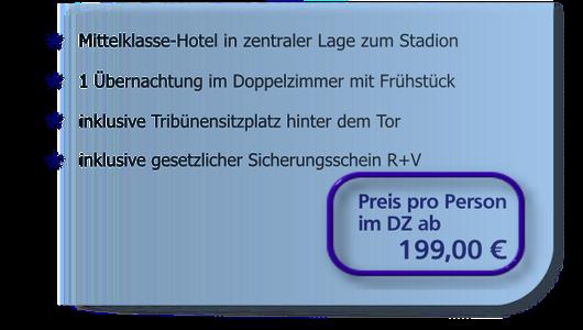 Heimspiel-Arrangements ab 215 Euro
