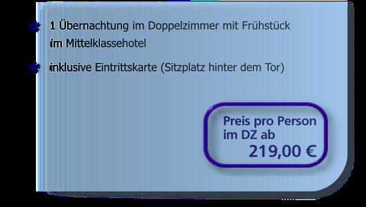 Heimspiel-Arrangement ab 425 Euro