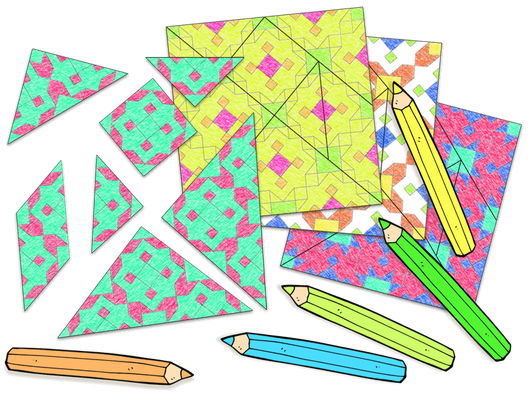 Color and make your own Tangram set - www.tangram-channel.com