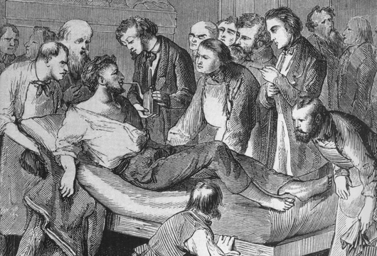 Patientenversorgung im Massachusetts General Hospital im Jahr 1846 (© Everett Historical - shutterstock.com)