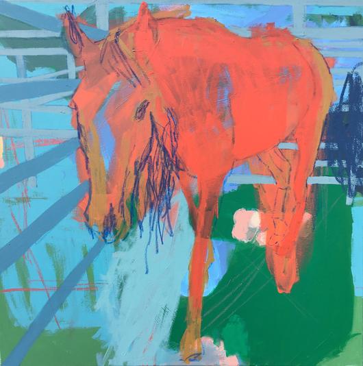 Horse , 80x80cm , acrylic on canvas