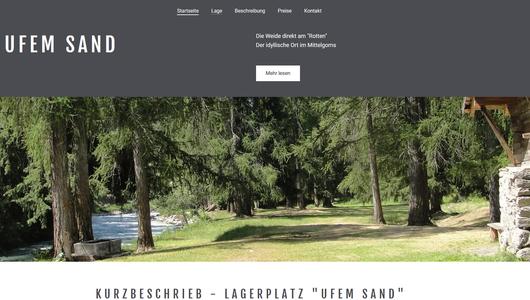 """Lagerplatz """"Ufem Sand"""" im Goms"""