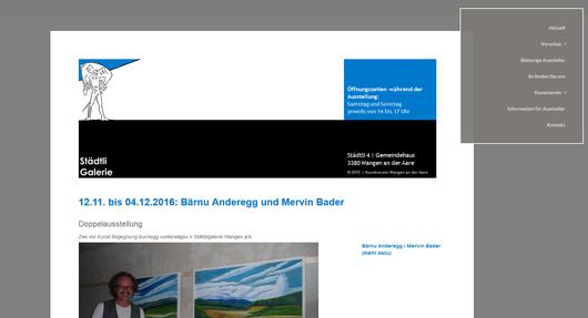 Städtligalerie - Kunstverein Wangen an der Aare - leider aufgelöst
