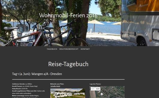 Privat: Tagebuch Wohnmobilferien 2016