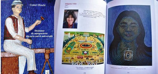 """Self-portrait dictionary of naive art"" was published in Rumania by Costel Iftinchi. I'm a part of the book."