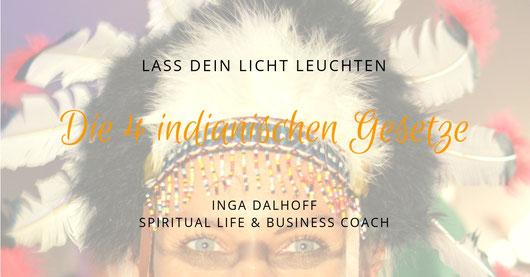 Indianer mit Kopfschmuck