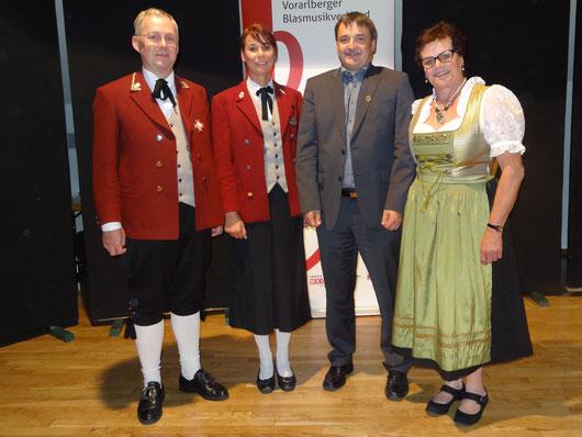 Foto: Kordula Ritsch - v.l.n.r. Helmut Schuler, Andrea Kräutler, Markus Thöny, Eva Nicolussi