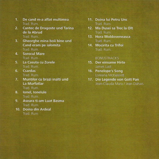CD-Inhalt Erinnerungen
