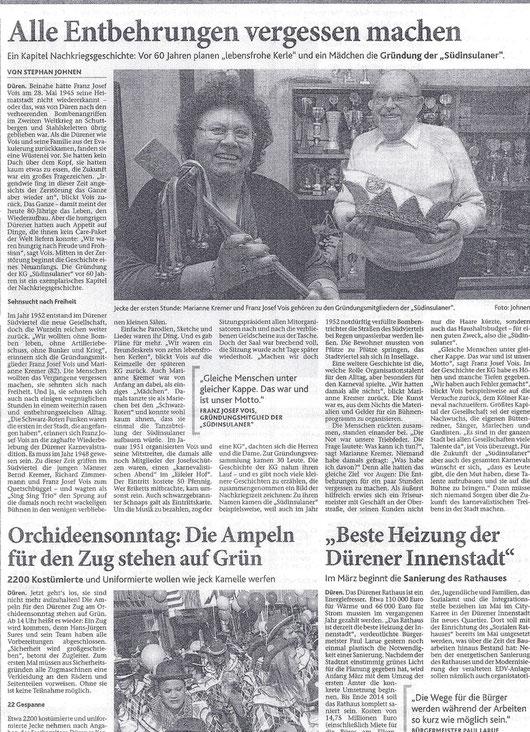 Dürener Zeitung vom 18.Februar 2012